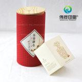 Rectángulo redondo del acondicionamiento de los alimentos con el papel y la etiqueta engomada de lujo