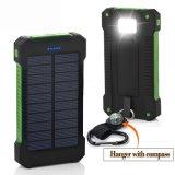 Côté imperméable à l'eau 10000mAh, chargeur 8000mAh d'énergie solaire de qualité de Hiqh de côté d'énergie solaire pour l'iPhone Samsung HTC