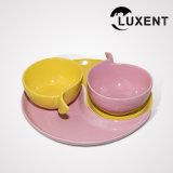 Tazza e piattino Sharp-Angled di ceramica del ristorante di alta qualità