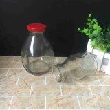 [250مل] [450مل] زجاجيّة يخلو عصير لبن شراب زجاجة مع معدن قصدير غطاء
