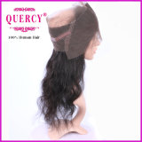 Frontal peruviano del merletto dei capelli 360 dell'onda del corpo di Remy del Virgin