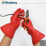 Gants isolants de diélectrique en caoutchouc électrique fait sur commande de la classe 00