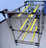 Système de racks de tuyaux de débit, racks de débit de carton