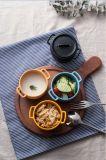 Plato de la salsa de la melamina con el tazón de fuente de la maneta/de la melamina con la tapa (QQ15211)
