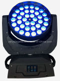 diodo emissor de luz UV) Zoom Beam Moving Head Wash DJ Light de 36*15W RGBWA 6in1 (