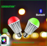 CCT Adjustive e bulbo do diodo emissor de luz do RGB do bluetooth de Dimmable do brilho