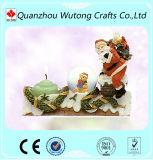 De modieuze Houder van de Kaars van de Teddybeer van de Kerstboom van het Ornament van de Hars van het Ontwerp