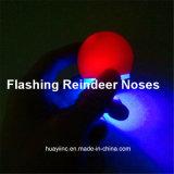 O diodo emissor de luz ilumina acima o logotipo do Imprint do nariz da rena