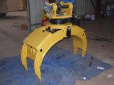 Alta qualidade garra de giro de 360 graus para a garra da pedra das máquinas escavadoras