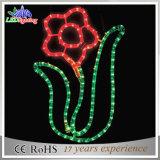 Blumen-Seil-Motiv-Lichter des neues Art-Weihnachtenim freien 2D LED