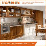 Cabina de cocina modular de madera sólida del Cabinetry de encargo