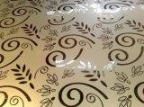 ätzte dekorative Farbe 304 316 316L Edelstahl-Blatt