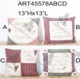 Casa Decoration-4asst. del cuscino del paese di Patchwork+Handstitched