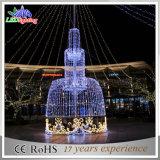 Van LEIDENE van de Decoratie van de vakantie Lichten van de Fontein 3D Kerstmis van het Motief Kunstmatige