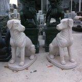 Рука Carved Granite Guardian Dog Sculpture для сада