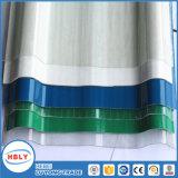Plaque ondulée de polycarbonate de courbure froide de parasols de couleur de résistance d'incendie