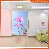 ホーム装飾の油絵のための花の壁紙が付いている明るい空