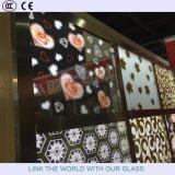 vidrio tridimensional de 5m m, vidrio teñido, vidrio interior, vidrio de la pared de la TV