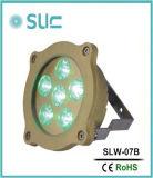 6*3W 풀 컬러 변경 LED 수중 샘 방수 빛