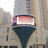 1 Full Color Outdoor Curved Fixed LED Screen에 대하여 높은 Brightness P16 SMD 3