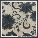 Черный шнурок вышивки Sequin сетки для платья