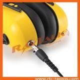 Шлемофон голубой каски мотоцикла с отменять шума & кабель XLR для двухстороннего Radio Talkie Walkie
