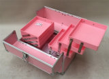 Trays Bntc-168를 가진 Aluminum Cosmetic Collection Nail Case Makeup Train Case