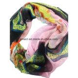 100% Silk Chiffon- gedruckter Windung-Schal (ALJ10000724)
