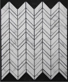 Zeshoek/Basketweave/Visgraat/de Franse Mozaïeken van de Tegel van de Vloer/van de Muur van het Patroon Witte Marmeren