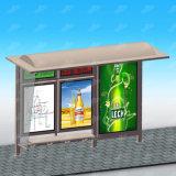Abri moderne d'arrêt de bus de la publicité extérieure en métal dans le bon modèle pour annoncer avec la DEL