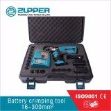 ひだを付けるための小型タイプ電池式の圧着工具範囲16-300mm2 (EZ-300)に