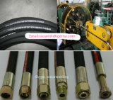 Explotación minera hidráulica trenzada hidráulica del SAE del manguito del alambre de acero de la asamblea de manguito de la asamblea de alta presión y manguito del petróleo