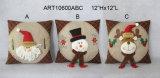 Almohadilla de la decoración del hogar del reno del muñeco de nieve de Santa de la Feliz Navidad