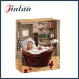Großhandelsschlafenbaby-Entwurf gedruckter Weihnachtseinkaufen-Geschenk-Papierbeutel