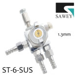 Het Spuitpistool st-6-SUS 1.3mm van het Roestvrij staal van Sawey Voor Anticorrosieve Deklaag