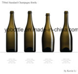 25 oz Round Champagne Wine Bottle (12081A)