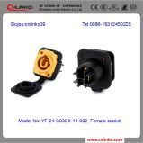 Fabriqué en Chine Waterproof Male Female Speaker Connector/Speakon Plug