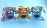 Brinquedo roxo do cão de animal de estimação do luxuoso com Squeaker para dentro