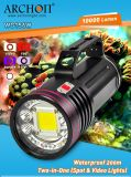 10, diodo emissor de luz Diving Flashlight Lamp Torch de 000lm Underwater 100watts