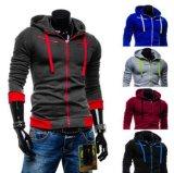 Großhandelsmassenmann-Baumwollform-Sport-Abnützung Hoody Mantel-Umhüllung