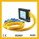 divisor óptico unimodal del PLC de fibra del rectángulo del ABS 1X16