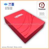 Rectángulo de empaquetado del regalo de lujo rojo de la cartulina para el alimento