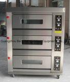 Goede Kwaliteit 3 Dek 6 Oven van het Baksel van het Gas van Dienbladen de Commerciële