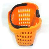 Panier à provisions en plastique élevé de supermarché de Quanlity (ZC-13)