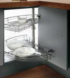 Mobilia di legno modulare all'ingrosso a forma di L della cucina del PVC di alta lucentezza (OP14-125)