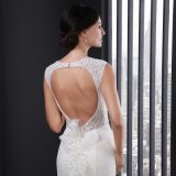 Ivory Mermaid Lace Backless Wedding Dress 2016 (SL001)