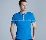 Qualitäts-Ebenen-Baumwollmann-Polo-Hemd 100%