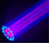 Indicatore luminoso capo mobile della fase dello zoom dell'occhio dell'ape della strumentazione 19X15W LED del DJ