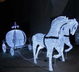 Fairy fantasia Cavalo do Natal Carriage Luz para Shopping Mall Deco