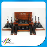 Exibição de Exibição de Exibição de Acrílico Exibida de Exibição de Relógio de Madeira
